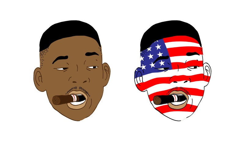 Will smith independence day illustration