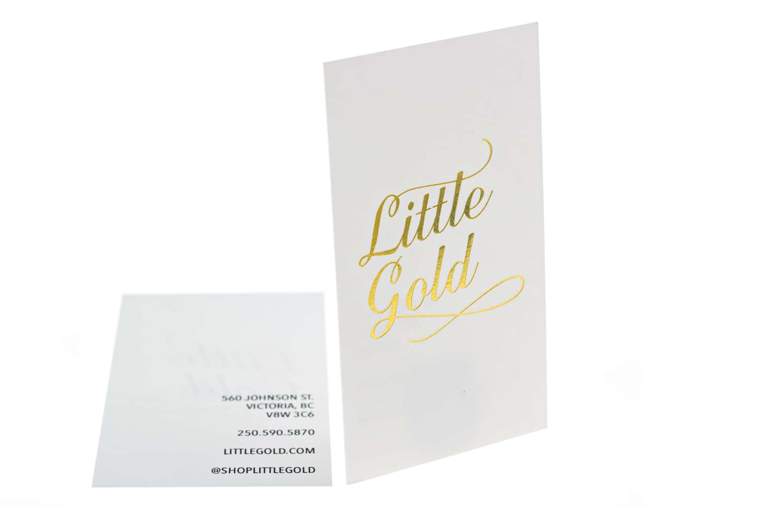 foil business cards - metallic foil stamping