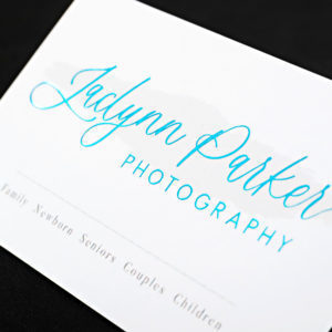 raised embossed foil business cards