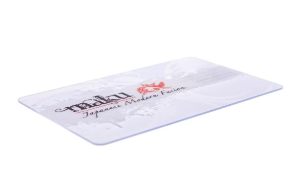 clear business cards on plastic