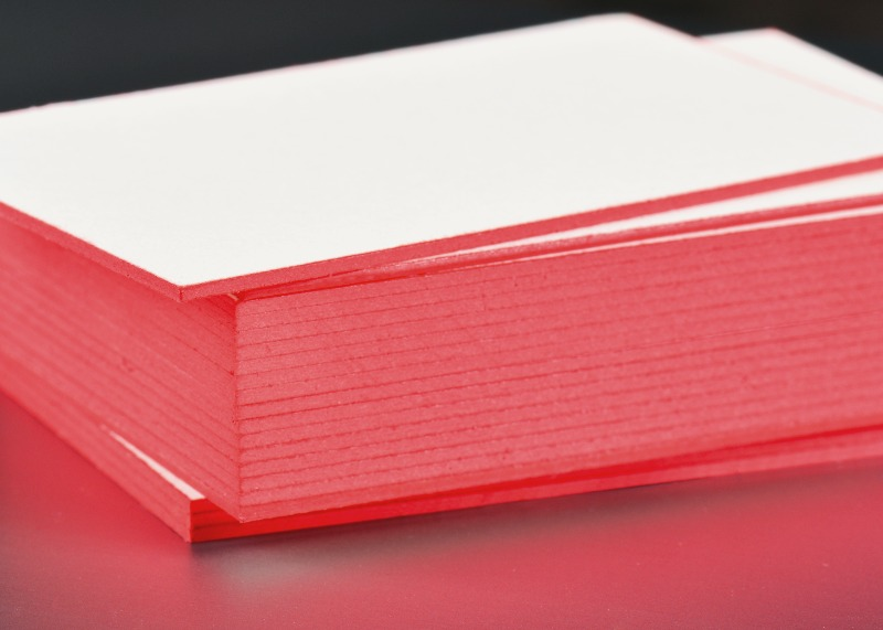 painted colored edge business cards