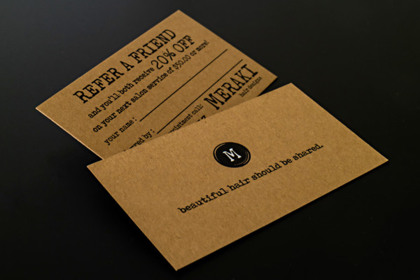 Print Online Best Print Online brown kraft business cards with foil stamping