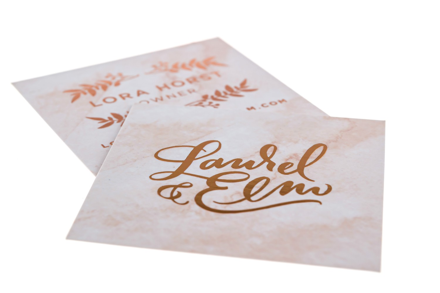 beautiful-square-marble-texture-rose-gold-foil-stamp-business-card-script-font