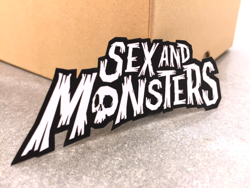 Comic-Inspired Lazer Die-Cut Business Cards: SexAndMonsters.com