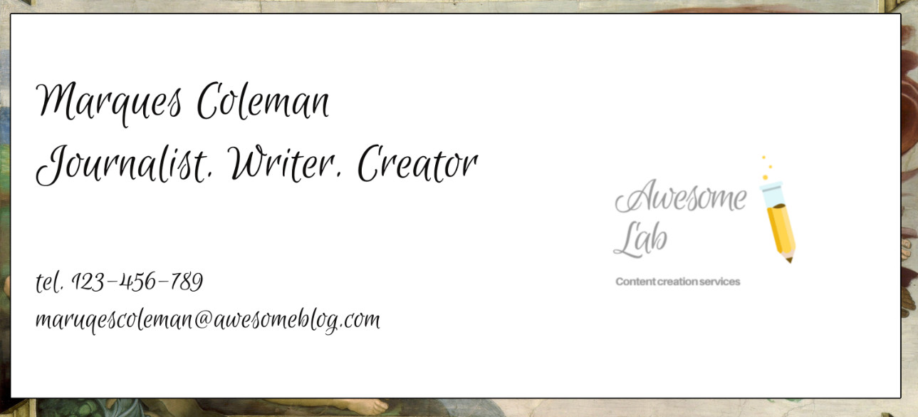 3 Creative Business Card Ideas for Writers
