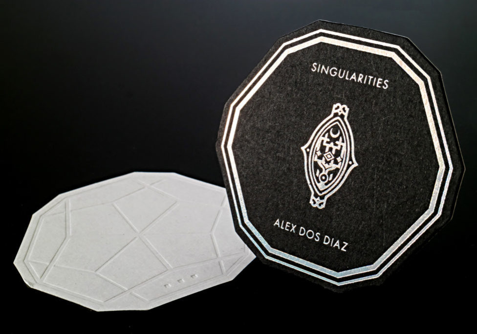 Print Online Best die cut business cards with holographic foil and embossing business cards business cards