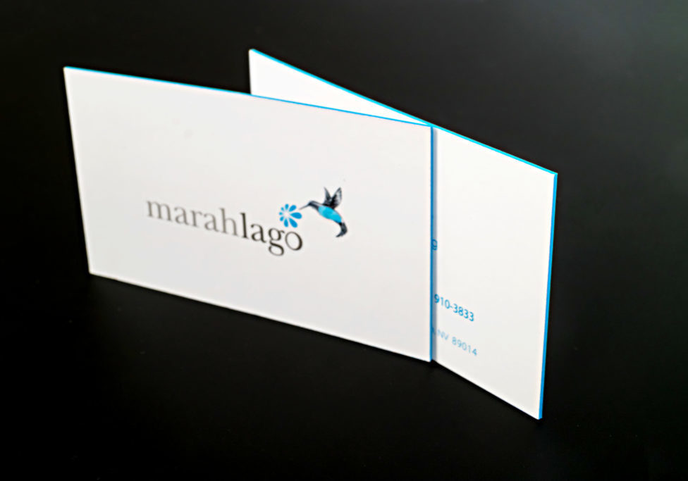 colored edge business cards