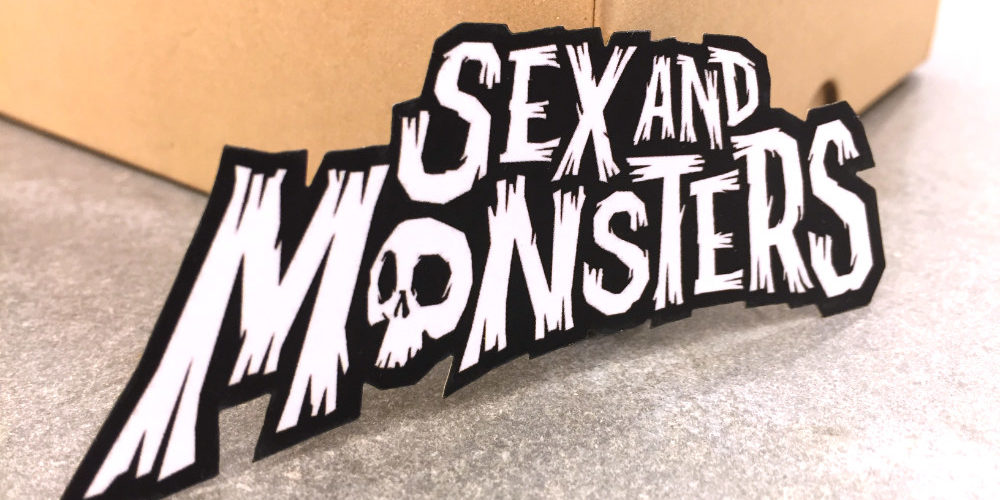 monster die cut card