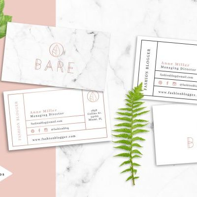 rose-gold-business-cards